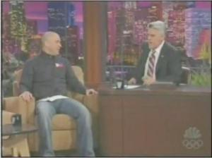 Jo Koy proudly wearing the Philippien flag in The Tonight Show with Jay Leno
